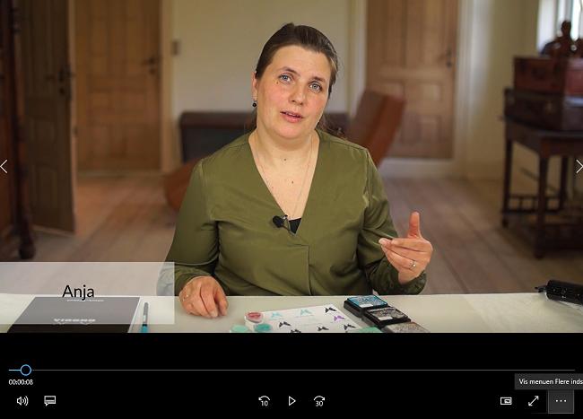 Anja i et Onlinekursus