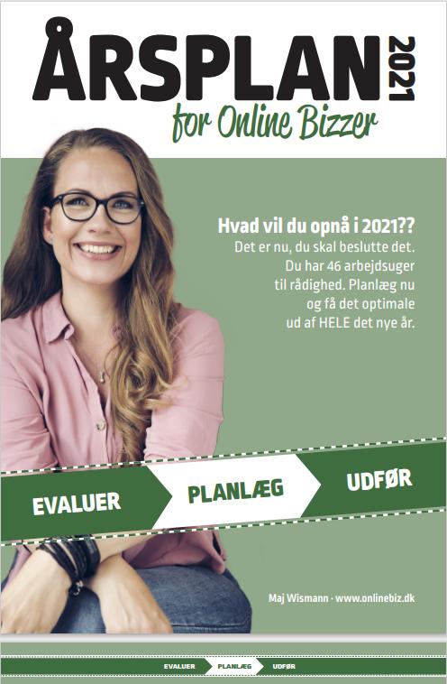 Forside Årsplan for onlinebizzer 2021